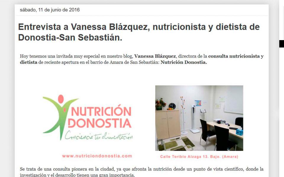 Nutrición Donostia aparece en el blog donostia hiria, donde se habla sobre todo tipo de temas relacionados con la ciudad: el futbol, la gastronomía, empresas, emprendedores, turismo